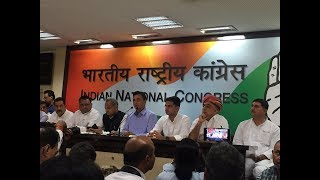 Rafale Scam: Briefing by Sachin Pilot, Ashok Gehlot, Jitendra Singh and Randeep Surjewala at AICC HQ