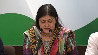 Ragini Nayak addresses Media at Congress HQ on MJ Akbar Resignation