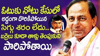 CM KCR Satirical Comments on CM Chandrababu Naidu Over Telangana Election | TRS manifesto