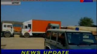 jantv alwar ACB raid on shajahanpur check post news