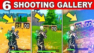 ALL 6 LOCATIONS - Get a SCORE OF 3 OR MORE at DIFFERENT SHOOTING GALLERIES - FORTNITE CHALLENGES