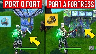 Use a Port o Fort or Port a Fortress in Different Matches - WEEK 4 CHALLENGES FORTNITE SEASON 6
