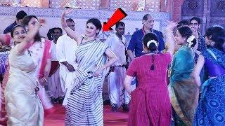 Mouni Roy's GARBA DANCE LIVE At Biggest Durga Pooja 2018 - Watch Video