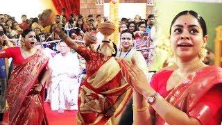 Tanisha Mukerji Sumona TRADITIONAL DANCE At North Bombay Sarbojanin Durga Puja 2018