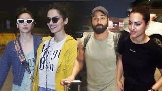Bollywood Celebs Spotted At Mumbai Airport | Alia Bhatt, Sonakshi Sinha, Manushi Chhillar