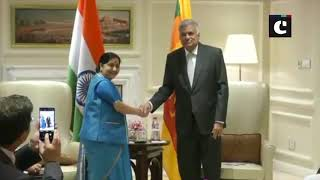 Sri Lankan PM holds bilateral talks with Rajnath Singh, EAM Swaraj