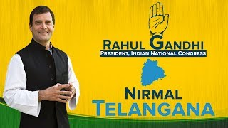 LIVE: Congress President Rahul Gandhi addresses a huge public meeting in Nirmal, Telangana