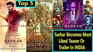 Top 5 Most Liked Indian movies TEASERS And TRAILERS on YouTube