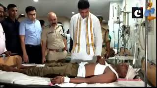 CM Biplab Deb meets injured personnel of Tripura State Rifles in hospital