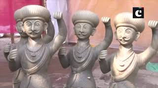 Terracotta craftsmen busy preparing products ahead of Diwali