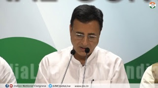 CBI Tussle: AICC Press Briefing By Randeep Singh Surjewala and Dr Ajoy Kumar at Congress HQ