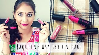 JAQULINE USA TRY ON HAUL & Review | AFFORDABLE LIPSTICK UNDER RS. 300