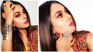 NAVRATRI MAKEUP LOOK TUTORIAL| INDIAN FESTIVAL MAKEUP