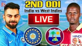 India Vs West Indies 2nd Odi Live Streaming Match Video & Highlights