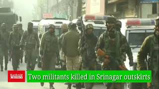 Two militants killed in Srinagar gunfight,Internet snapped
