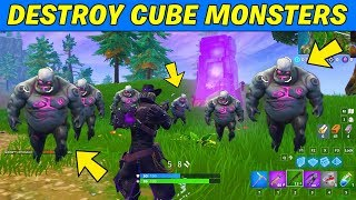 Destroy Cube Monsters and Deal damage with Assault Rifles or Pistols to Cube Monsters Challenges