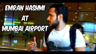 Emraan Hashmi Returns From Hyderabad - Spotted At Mumbai Airport