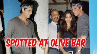 Shah Rukh Khan And Daughter Suhana Khan Spotted At Olive Bar