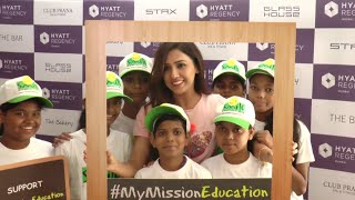 Neeti Mohan Hanging Out With Kids From Smile Foundation