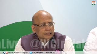 Press briefing by Mallikarjun Kharge and Abhishek Singhvi on Modi Govt Destroying CBI