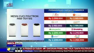 Perbandingan Harga E-Commerce: Mesin Cuci Polytron PAW-7511-WS