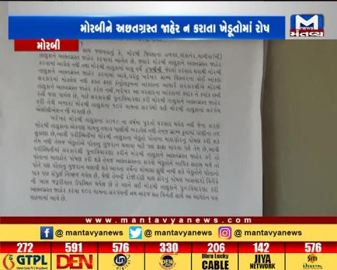 Morbi: Farmers have submitted memorandum to collector to declare Morbi as Scarcity Hit