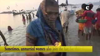 Women take holy dip in Sangam River on Karva Chauth