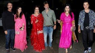 Bollywood Stars Celebrates Karwa Chauth At Anil Kapoor's Residence