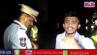 DRUKEN YOUTH HULCHUL & ARGUES WITH TRAFFIC POLICE AT JUBILEE HILLS CHECK POST | HYD