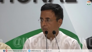 AICC Press Briefing By Ashok Gehlot and Randeep Singh Surjewala at Congress HQ