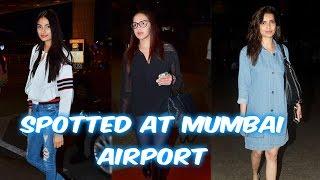 Athiya Shetty, Esha Deol, Karishma Tanna Are Spotted At Mumbai Airport