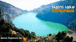 Naini lake (Mango Shape Lake) from Top of the Hill | Nainital, Uttarakhand, India