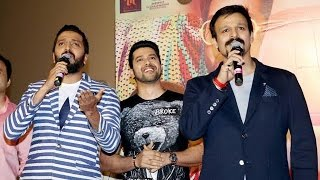 Riteish, Aftab & Vivek Insult Reporter At Great Grand Masti Trailer Launch