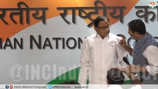 Press briefing by P Chidambaram, Rajeev Gowda and Pranav Jha on  party's LokSabha Election Manifesto