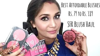 Best Affordable Blushes Rs. 79 to Rs. 189 | SFR Blushes Review & Swatches
