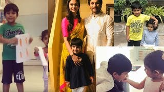 Allu Arjun with his children || Allu Arjun son and Daughter Latest Photos | Daily Poster