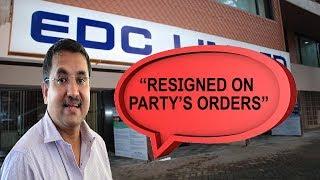 Siddharth Steps Down From EDC Chairmanship To Give Way To Subhash Shirodkar