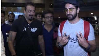 Sanjay Dutt & Ayushmann Khurrana spotted at Mumbai airport