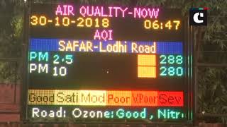 """Air quality remains """"poor"""" in national capital"""