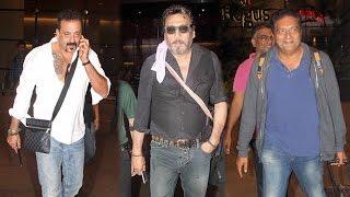 Sanjay Dutt, Jackie Shroff & Prakash Raj spotted at Mumbai airport
