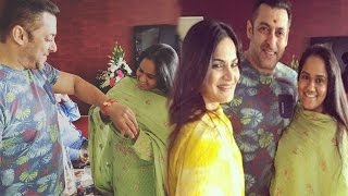 Salman Khan Rakhi Celebration With Sisters Arpita Khan & Alvira Khan