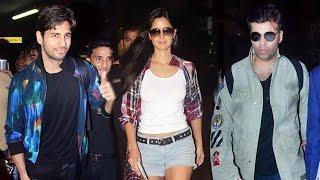 Sidharth Malhotra, Katrina Kaif & Karan Johar return after huge success of dream team tour