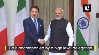 Italian PM meets Prime Minister Modi in Delhi