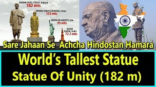 Statue Of Unity - Worlds Tallest Statue In Memory Of Sardar Patel
