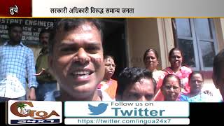 Water Crisis In Tuem, Angry Residents Gherao PWD Officials