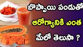 బొప్పాయి పండుతో ఆరోగ్యానికి ఎంత మేలో తెలుసా ? | Amazing Health Benefits of Papaya