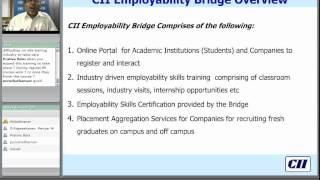"Webinar on ""CII Employability Bridge""  0 0"