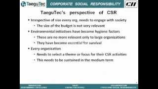 CII Webinar on CSR is Much More Than Being Green.flv