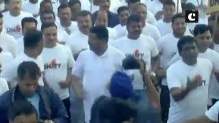 Dharmendra Pradhan participates in 'Run For Unity in Bhubaneswar