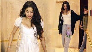 Janhvi Kapoor With Sister Khushi Spotted At Manish Malhotra's House